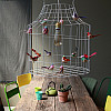Hanging lamp with birds